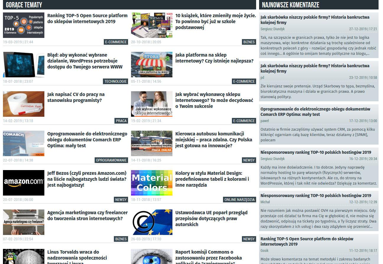 Blog informatyczny Sergiusza Diundyka - zrzut ekranu 2.