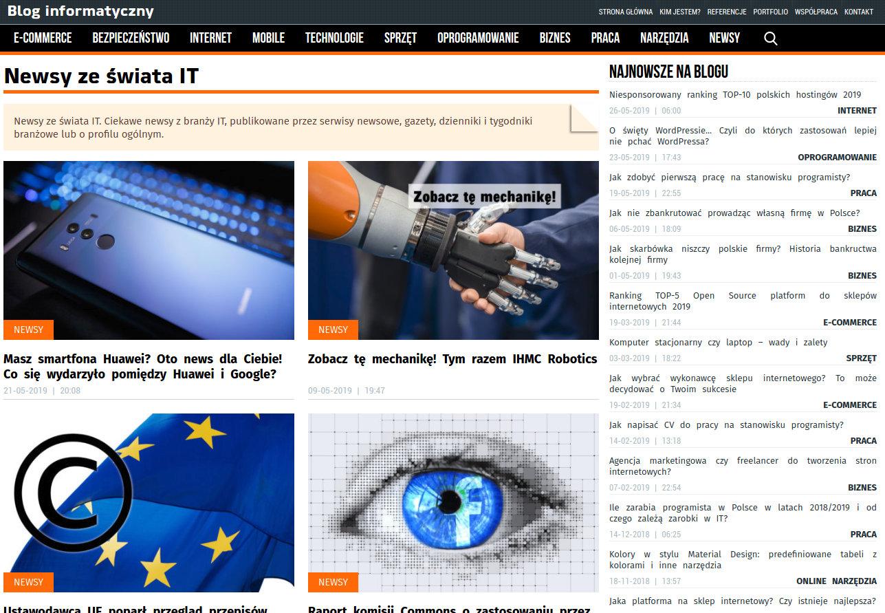 Blog informatyczny Sergiusza Diundyka - zrzut ekranu 3.