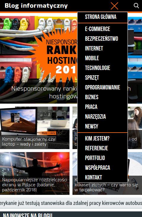 Blog informatyczny Sergiusza Diundyka - zrzut ekranu 4.