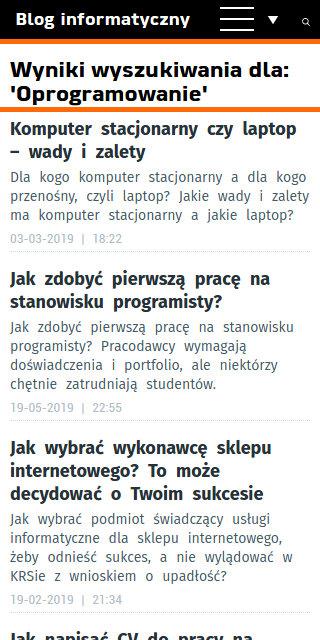Blog informatyczny Sergiusza Diundyka - zrzut ekranu 5.