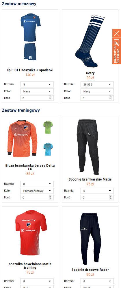 Portal sportowy EsKadra - zrzut ekranu 5.